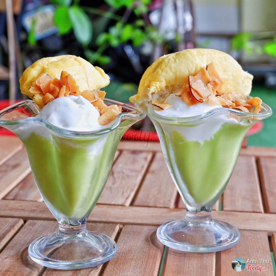 Top 10 quán ăn vặt ở Sài Gòn siêu ngon phải thử một lần (Kem bơ sầu riêng nguyên múi HiHealthy Drinks)