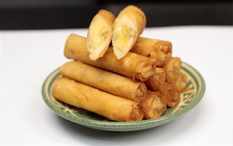 Thiên biến vạn hóa 10 món ăn vặt siêu ngon từ ... chuối (nem chuối)