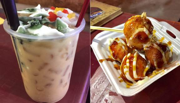 Truy lùng 10 quán ăn siêu ngon ở Nha Trang được người địa phương chấm điểm(Ăn Vặt Sơ Ri – Trà Sữa & Takoyaki)