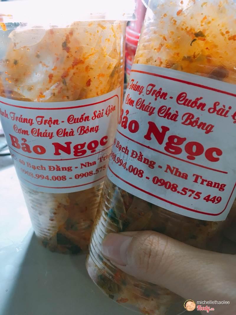 Truy lùng 10 quán ăn siêu ngon ở Nha Trang được người địa phương chấm điểm (bánh tráng trộn Bảo Ngọc)